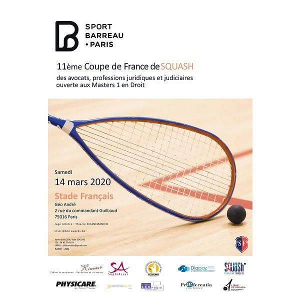 "Samedi 14 mars | ""Squash au Palais"""